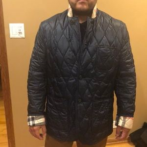 Dark navy Burberry jacket